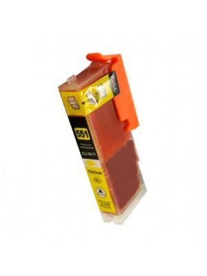 Canon CLI-551XLY geel met chip (KHL huismerk) CLI551YCLI551XLY-KHL