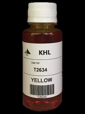 Epson T2634 inkt 100 ml geel (KHL huismerk) T2634Y100T26XLT2604-KHL