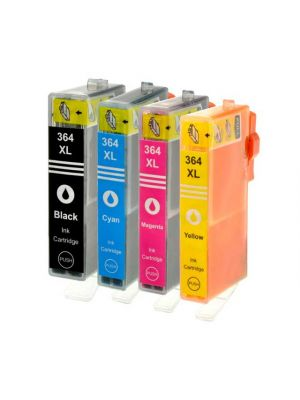 HP 364 XL - set 4 cartridges met chip (KHL huismerk) KHLHP364XL4pack