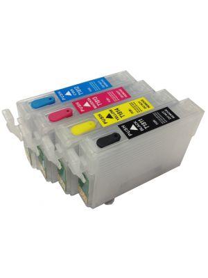 Hervulbare lege patronen voor Epson T1811-1814/T1801-1804/18XL met auto reset chip (4stuks)  KHLrefill18XL